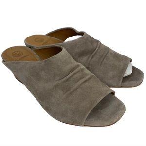 NWT Coclico Oahu Suede Low-Heel Mule Sandal